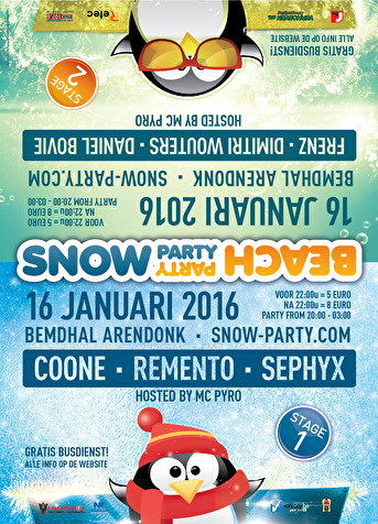 Snowparty Beachparty 2016 (flyer)