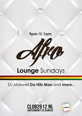 Afro Lounge Sundays (flyer)