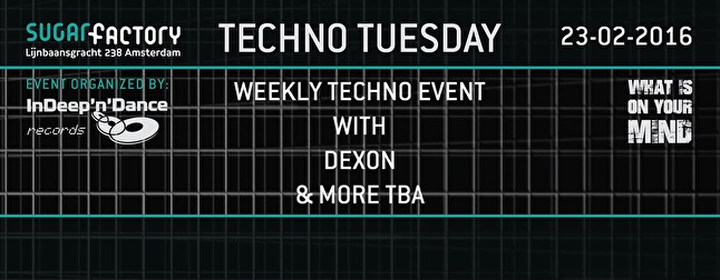 Techno Tuesday (flyer)