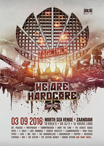 Together we are Hardcore festival (flyer)