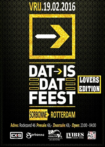 Dat is dat feest Lovers Edition (flyer)