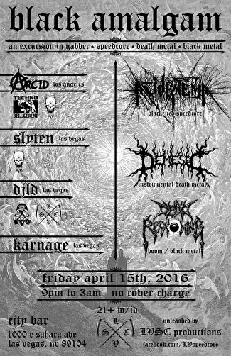 Black Amalgam (flyer)