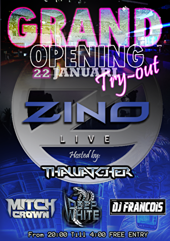 Zino Live Try Out (flyer)
