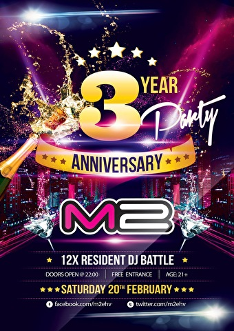 M2 3rd anniversary Party (flyer)