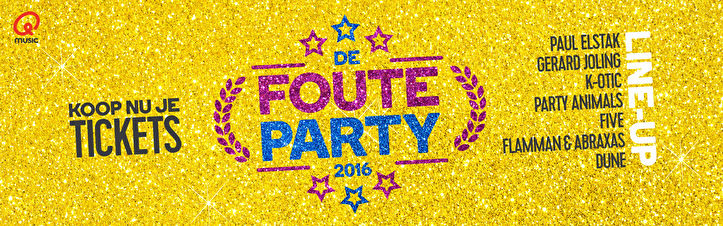 Qmusic Foute Party (flyer)