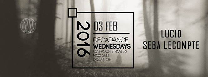 Wednesdays at Decadance (flyer)