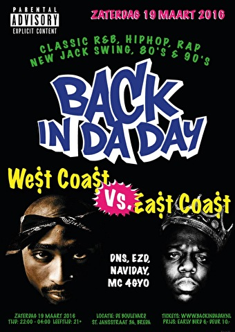 Back In Da Day (flyer)