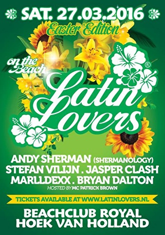Latin Lovers on the Beach (flyer)