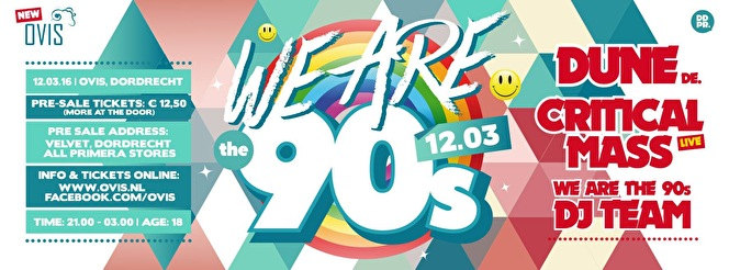 We are the 90's (flyer)