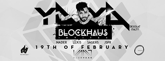Blockhaus invites Yaya (flyer)