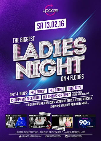 Ladies night (flyer)