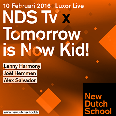 NDS Tv × Tomorrow is Now, Kid! (flyer)