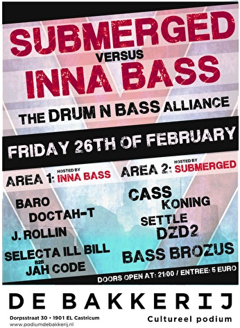 Submerged × Inna Bass (flyer)