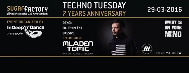 7 Years of Techno Tuesday (flyer)