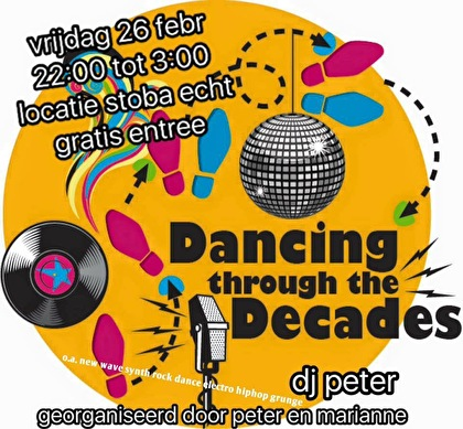 Dancing through the Decades (flyer)