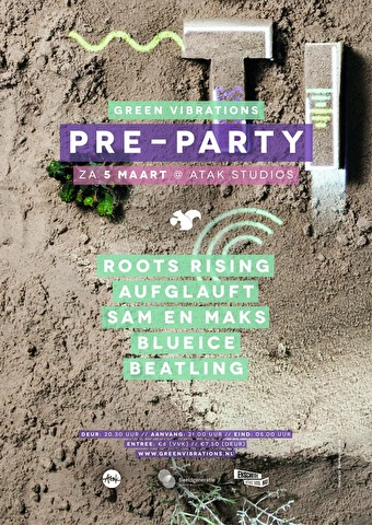 Green Vibrations Pre-Party (flyer)