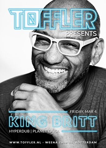 Toffler presents King Britt (flyer)