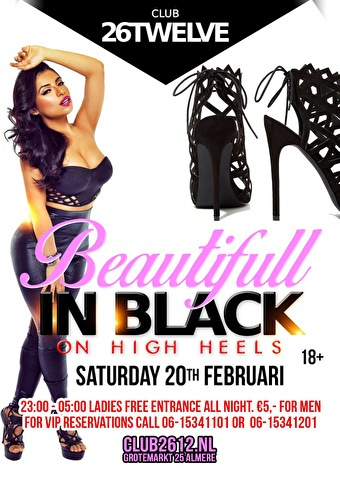 Beautifull In Black On High Heels (flyer)