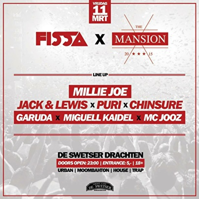 Fissa x The Mansion (flyer)