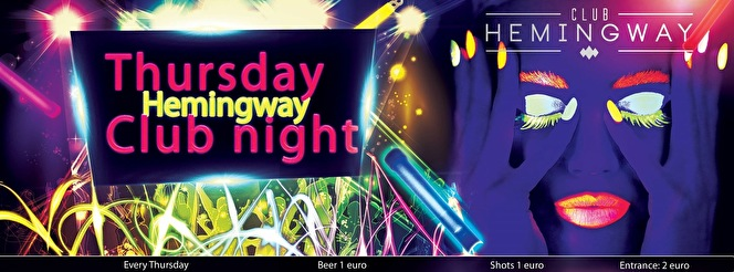 Hemingway Club Night (flyer)