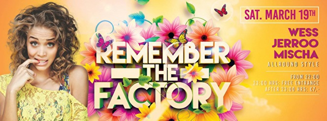 Remember The Factory (flyer)