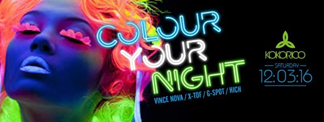 Colour Your Night (flyer)