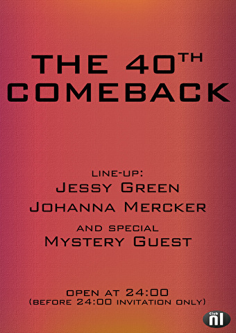 The 40th Comeback (flyer)