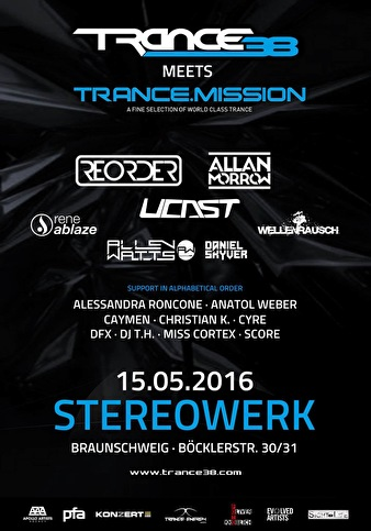 flyer Trance38 meets Trance. Mission