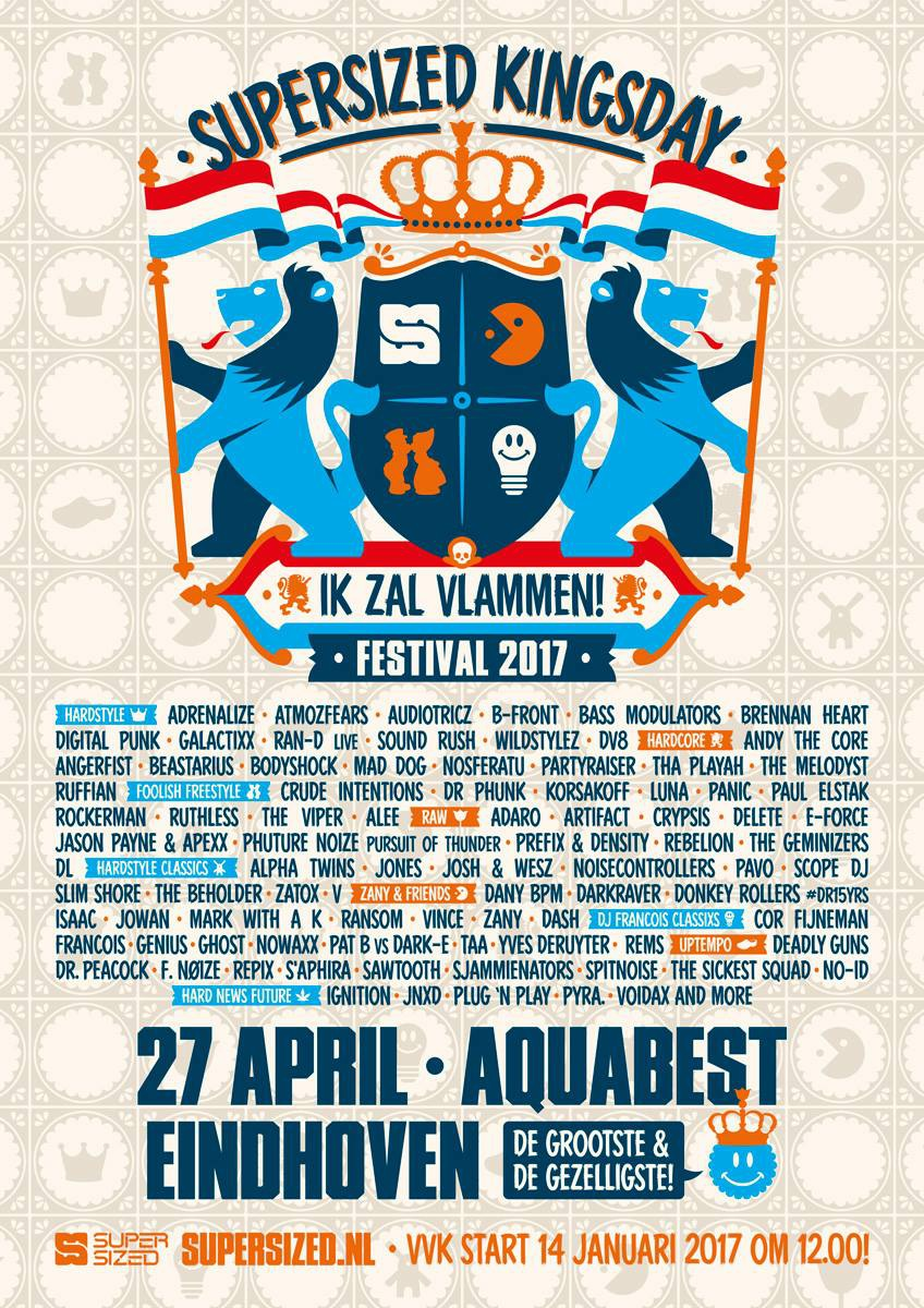 Bezoekers Supersized Kingsday Festival 27 April 2017 Aquabest