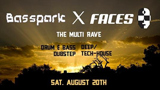 Basspark × Faces (flyer)