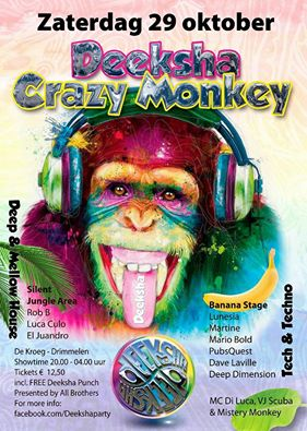 Deeksha Crazy Monkey (flyer)