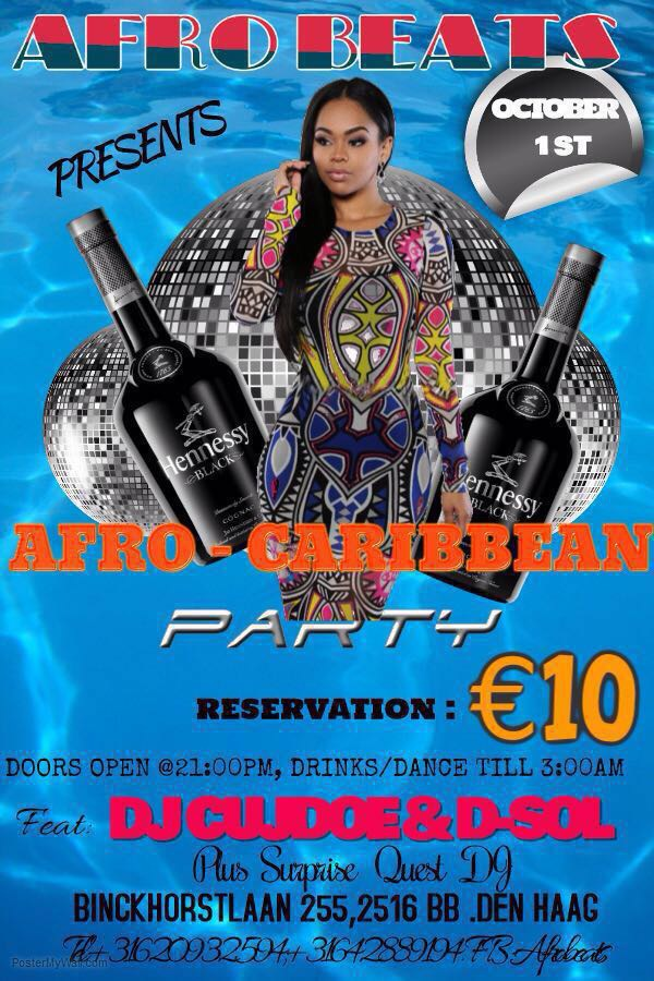 Afro Caribbean Party Flyer