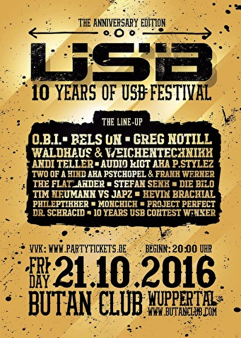 USB - The Anniversary Edition (flyer)