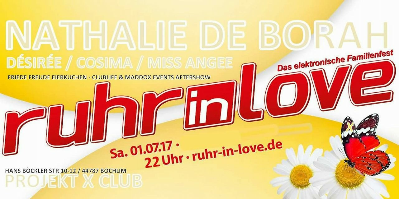 ruhr in love official afterparty 1 july 2017 projekt x bochum event. Black Bedroom Furniture Sets. Home Design Ideas