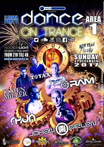 New Years Dance On Trance (flyer)