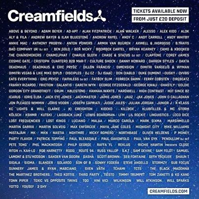 Creamfields (flyer)