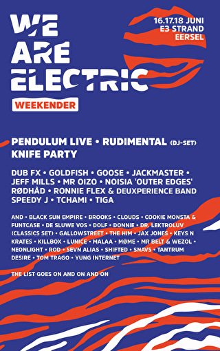 We Are Electric Weekender (flyer)