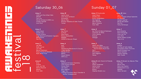 Awakenings Festival (flyer)