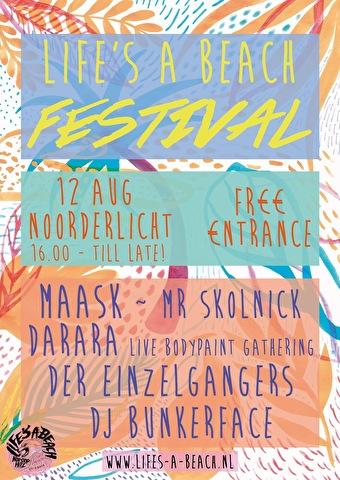 Life's A Beach Festival (flyer)