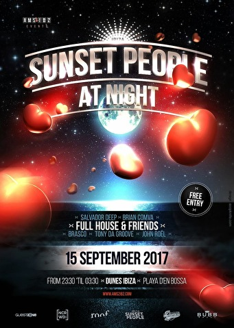Sunset People at Night (flyer)