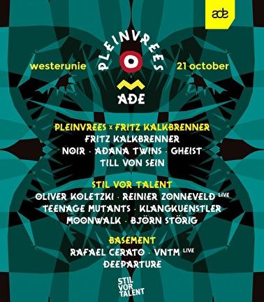 Pleinvrees ADE × Fritz Kalkbrenner & Stil vor Talent (flyer)