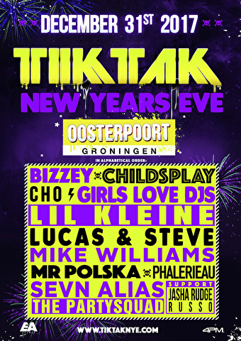 TIKTAK New Years Eve (flyer)