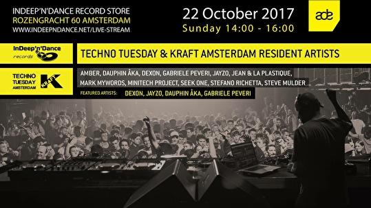 Techno Tuesday & Kraft Amsterdam Artists (flyer)