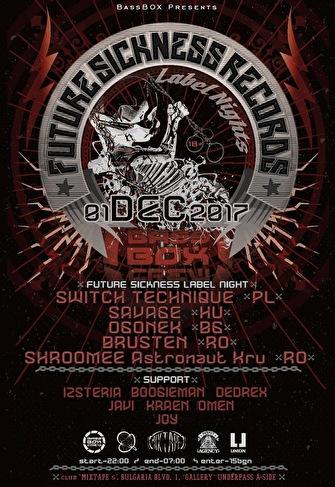 Future Sickness Label night (flyer)