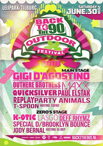 flyer Back 2 the 90's Festival