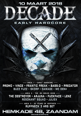 Decade of Early Hardcore (flyer)
