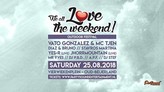 flyer We All Love The Weekend Outdoor