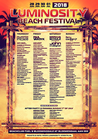 Luminosity Beach Festival (flyer)