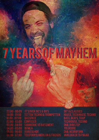 flyer 7 Years of Subsonic Mayhem