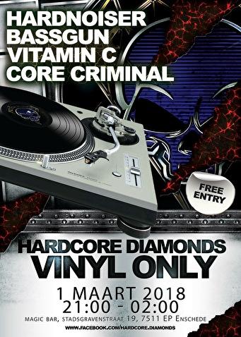 Hardcore Diamonds Vinyl Only (flyer)